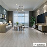 江苏实木纹SPC石塑锁扣地板厂家直供家装商用办公楼地板