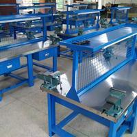 学校实训用不锈钢钳工台,耐磨不锈钢台面钳工桌,技校学生操作台