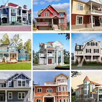 3d轻钢别墅,农村自建房,景区别墅,养老地产,