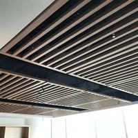 供应宣城酒店商场装修装饰造型铝方通-木纹铝方通-天花吊顶幕墙