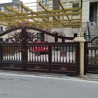 豪华欧式铝艺大门铝合金别墅大门对开门庭院门院落入户门定制