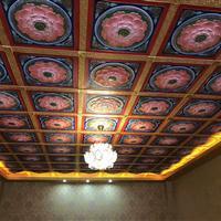 寺庙吊顶古建地宫彩绘展厅天花装饰吊顶环保材料防潮阻燃寿命长