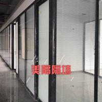 东莞活动屏风隔断―成品玻璃隔断―双玻百叶隔断