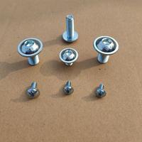 10.9级蓝白锌内六角圆头带垫螺钉 ISO 7380-2