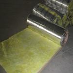 河北大城龙飒防火离心玻璃棉12kg50mm单面草纸网格铝箔铝箔