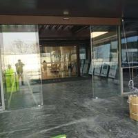 自动平移式玻璃感应门的工作流程