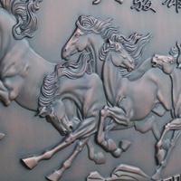 锢雅精雕铝板浮雕壁画,铝艺浮雕背景墙