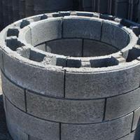 弧形混凝土模块 圆形混凝土模块砖
