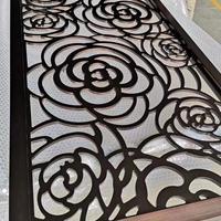完美铝板雕刻古铜屏风