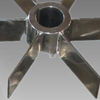 四片平直叶开启涡轮式搅拌器不锈钢非标防腐衬胶衬塑径流型