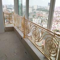 锢雅金雕金属定制�X艺阳台护栏