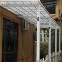佛山雨棚厂家户外庭院别墅铝合金遮阳棚 耐力板雨棚 阳台露台雨篷