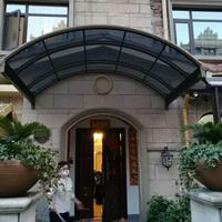 小区铝合金露台棚 别墅透明阳台遮阳挡雨棚 PC耐力板铝合金雨棚