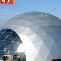 六柒厂家订制18米镀锌管球形篷房 立体球幕影院 户外酒会蓬房