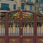 悬浮摆折门 豪华别墅花园铝艺悬浮折叠大门-久瑞门业