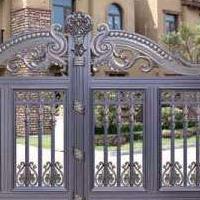 厂家直销铝艺门 欧式铝艺小区别墅学校庭院进户大门