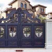 山东铝艺大门护栏招商,庭院别墅大门护栏,铝合金大门护栏