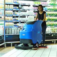 容恩R70BT电瓶式双刷手推全自动洗地机_提高你的清洁效率