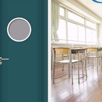 广州厂家直销特种钢板门钢质教室门定制出口简易门