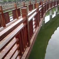 防腐木栏杆 芬兰木防腐木围栏栏杆栅栏制作 湖南长沙防腐木栏杆