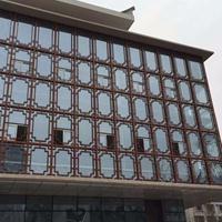 古鎮木紋鋁窗花_復古木紋鋁窗花