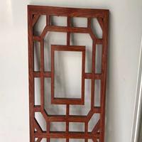 厂家铝定制合金方管焊接窗花 中国风防盗木纹铝格栅窗花