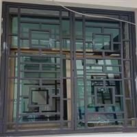 仿木纹铝窗花 铝合金窗花 型材铝花格窗花特点
