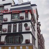 新余市街道改造铝窗花仿木纹铝花格铝合金厂家供应