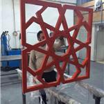 复古传统木纹铝窗花厂家
