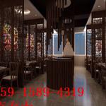 餐厅墙体仿古木纹屏风隔断铝窗花系列