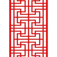 木纹色花格铝合金花格中式花格来图厂家提供价格