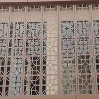 木纹铝窗花价格优惠-铝窗花厂家-铝合金窗花来图定制