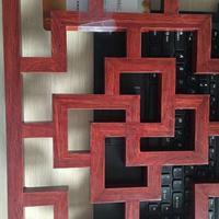 仿古铝格花定制 木纹铝格花厂家