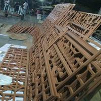 江西省信丰县街道改造仿木色铝合金窗花