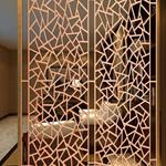 中国古风木纹铝窗花_雕刻造型木纹铝窗花厂家_建筑材料