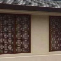 专业的烟台市铝窗花 铝管铝窗花 街道改造木纹铝窗花
