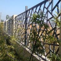 定制 旅游景区改造仿木纹铝窗花 铝合金窗花,艺术铝窗花厂家