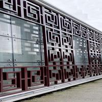莱芜市街道立面改造仿木纹铝窗花/仿古铝合金花格/铝屏风直供
