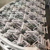 仿古铝合金花格格栅木纹铝窗花厂家