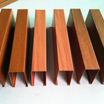 安徽合肥铝方通厂家,焊接铝型材造型方通,定制弧形铝通