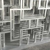 专业生产仿木纹铝合金窗花 铝型材窗花 室内装饰木纹铝窗花厂家