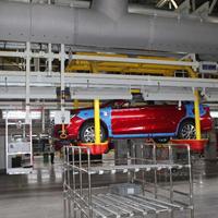 新能源汽车厂房车间岗位送风/纤维织物布袋风管送风