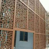 辽宁省抚顺 街道改造内外幕墙装饰木纹转印铝窗花