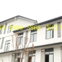 浙江省富阳县街道改造防古铝窗花\仿木纹铝窗花\木色铝合金窗花