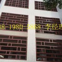 江西省峡江县街道改造仿木色铝合金窗花