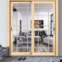 五月花定制钛镁合金钢化玻璃推拉移门,厨房卧室室内隔断玻璃门