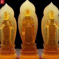 古法琉璃佛像工厂 大型琉璃佛像琉璃西方三圣佛像寺庙佛像