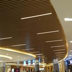定制U型木纹铝方通--办公室通透式U型铝方通--多种颜色选择