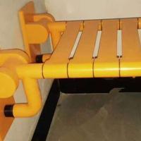 衛浴扶手尼龍502折疊椅 355mm*400mm黃色浴凳