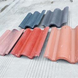 水泥瓦混凝土瓦彩瓦屋面平板瓦波形瓦通体涂层四川成都厂家直销